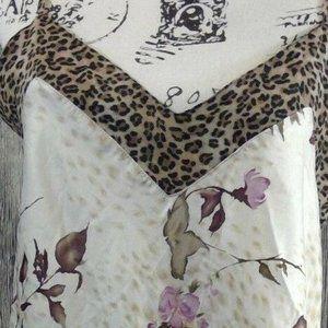 VALERIE STEVENS Small Babydoll Chemise Leopard Tri